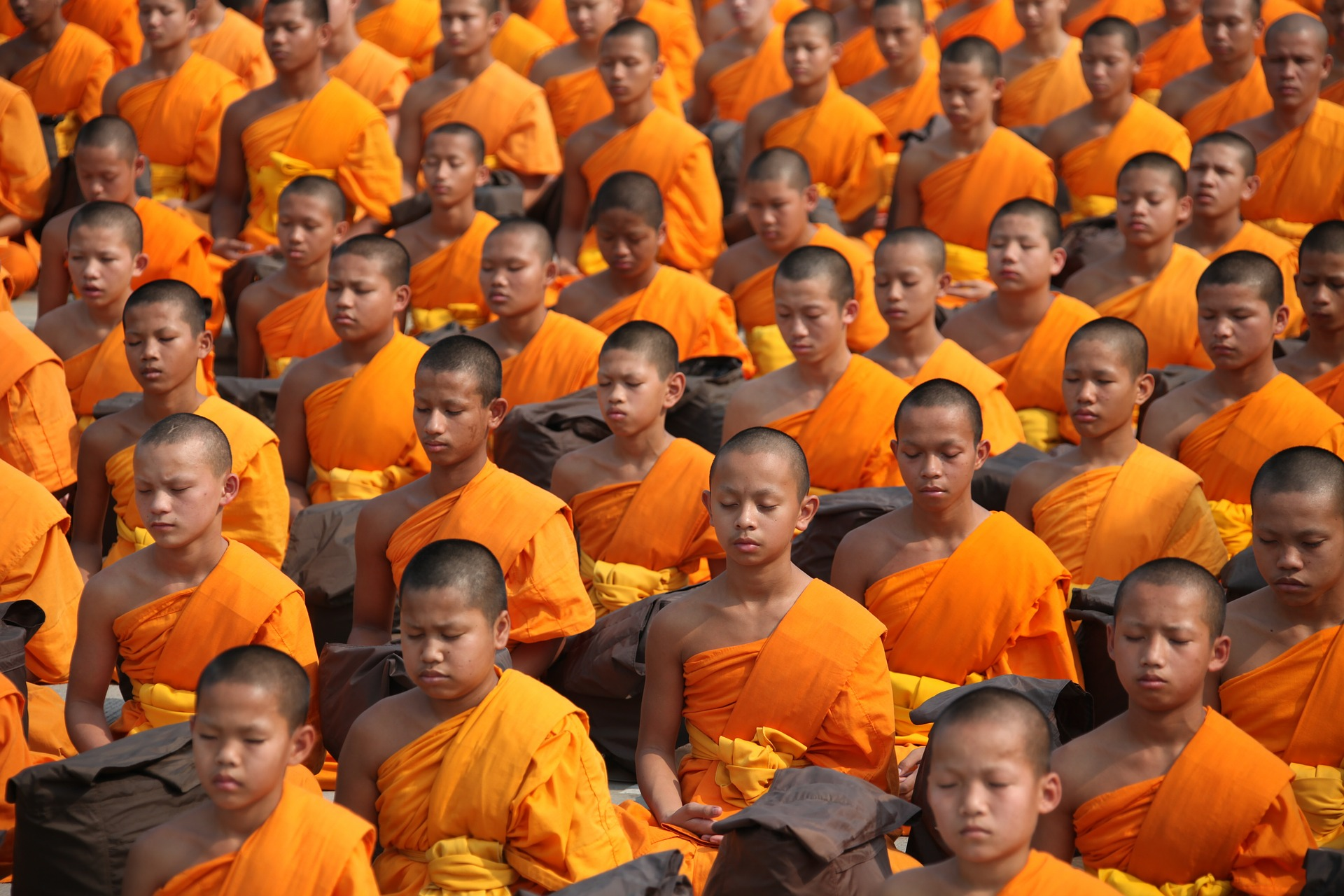 Monks Meditating
