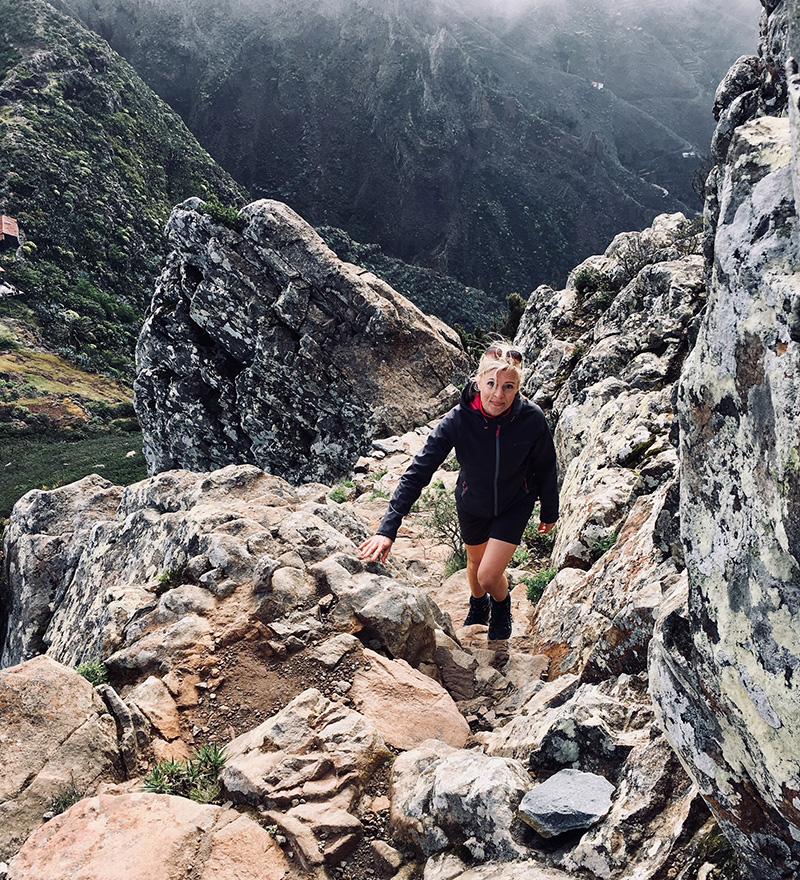 Mountain path, La Gomera