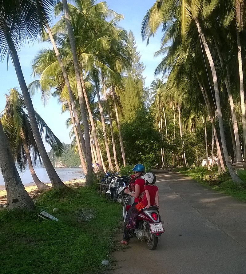 Riding A Scooter On Ko Yao Noi