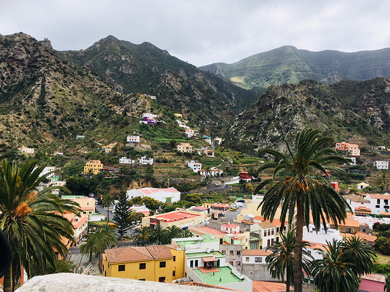 Colourful houses, La Gomera
