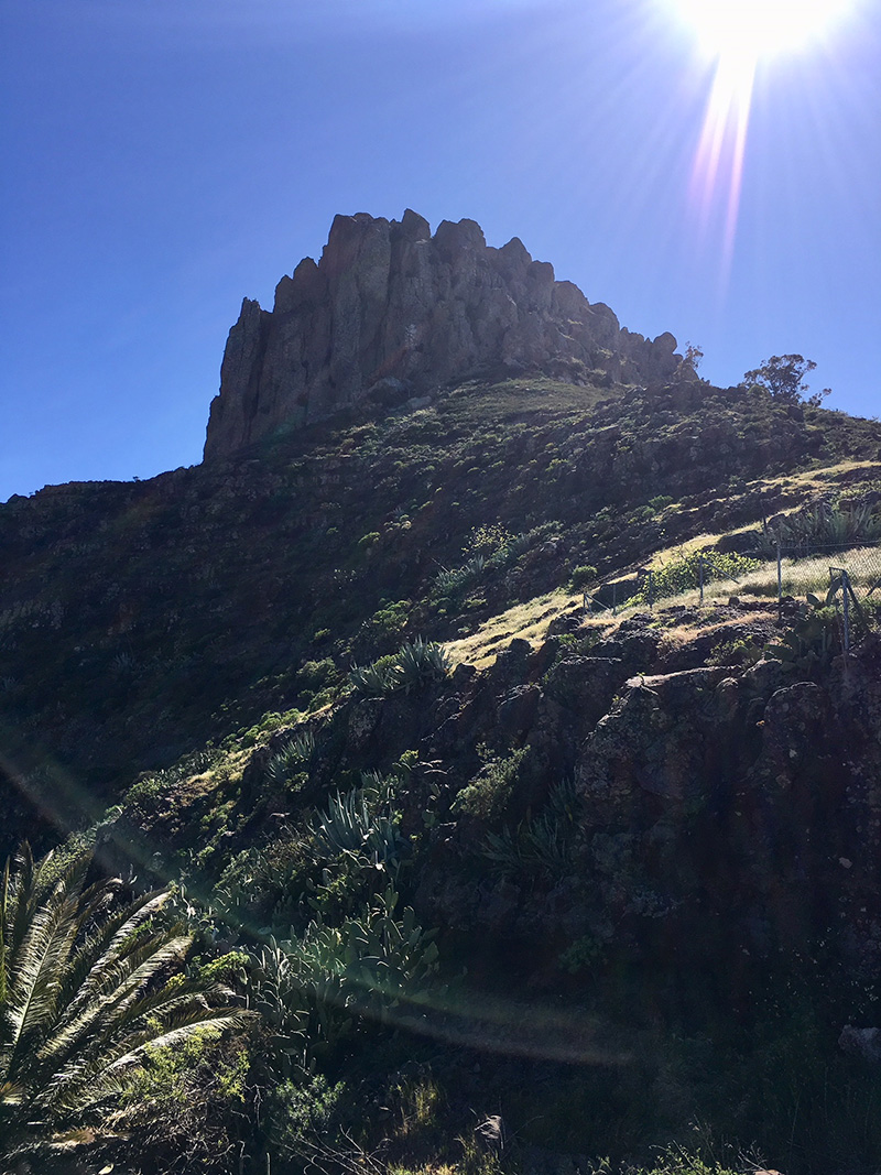 Lava cap, La Gomera