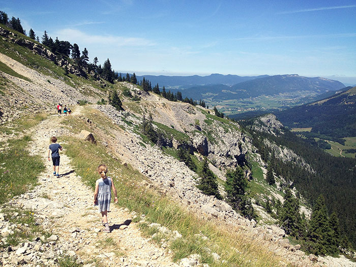 Walking in the Alps with children
