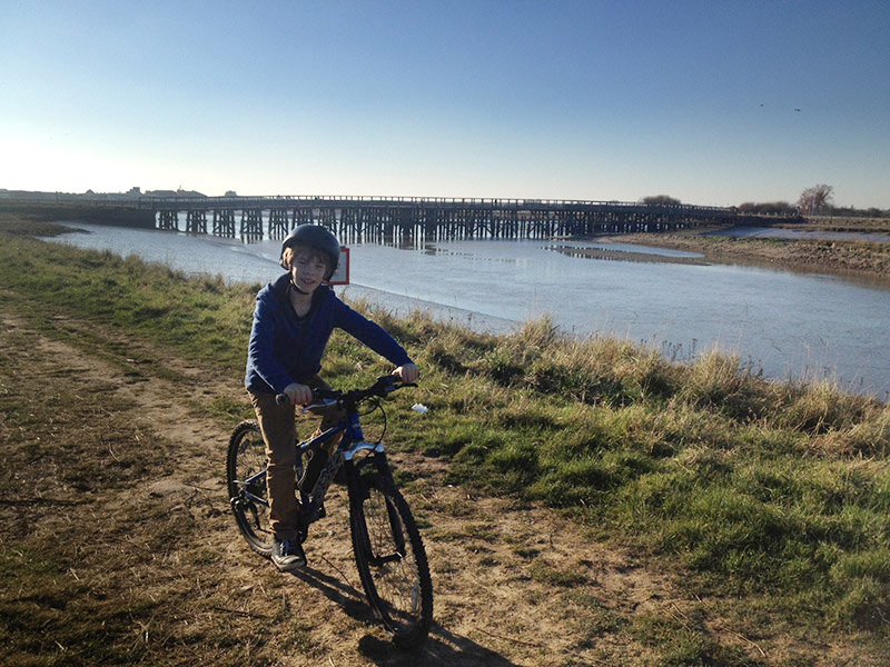 Biking by the river