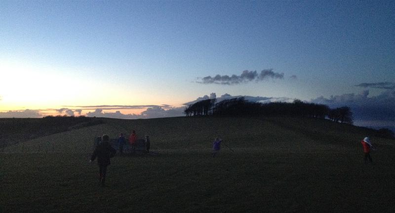 Sunset night hike