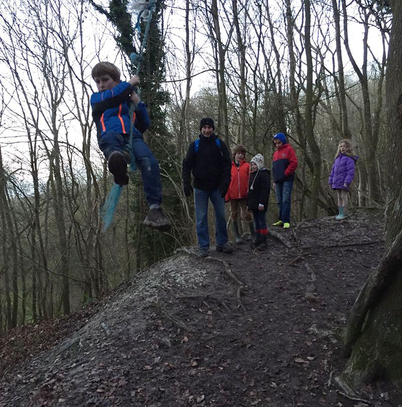 Rope swings in the woods
