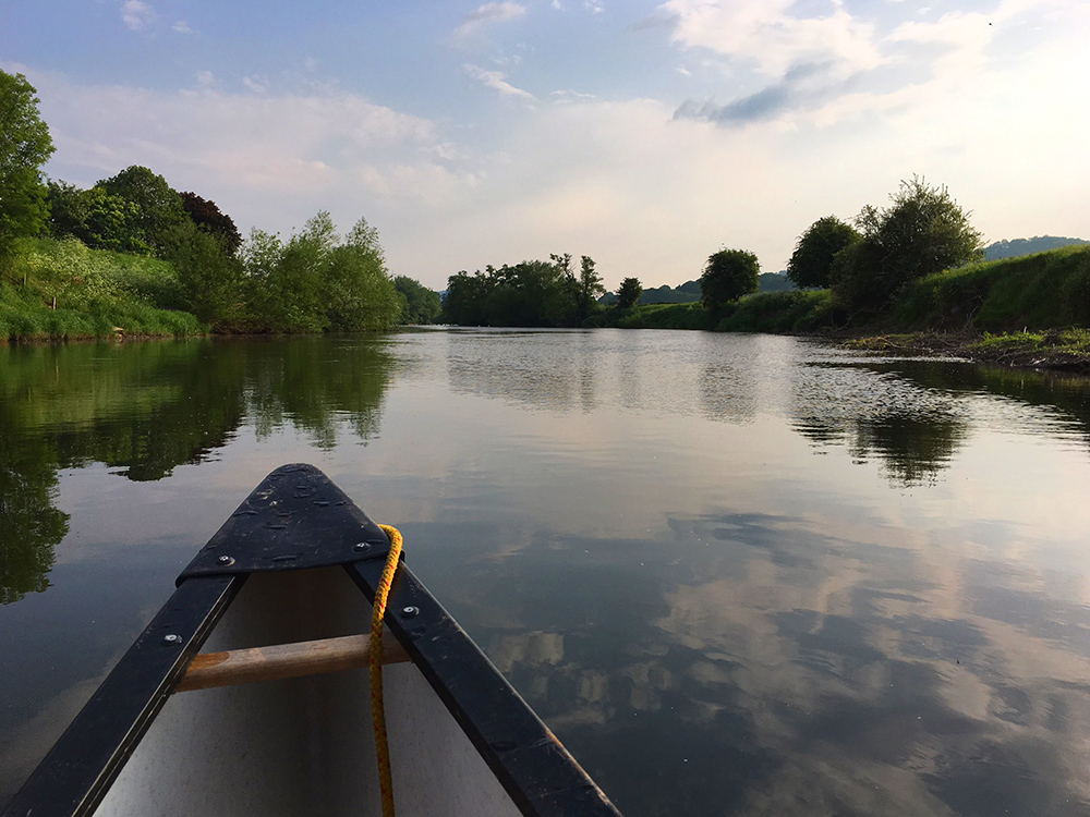 Canoeing on the beautiful Wye