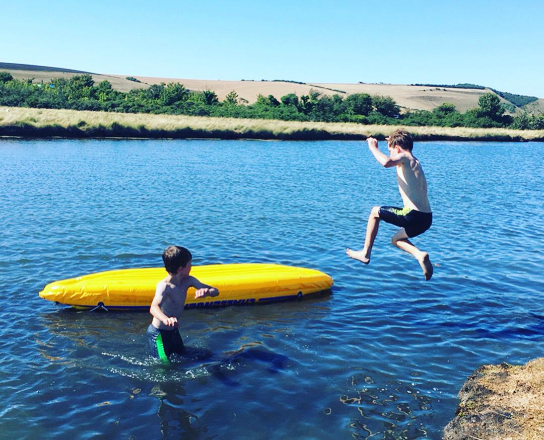 River leap: Wild swimming