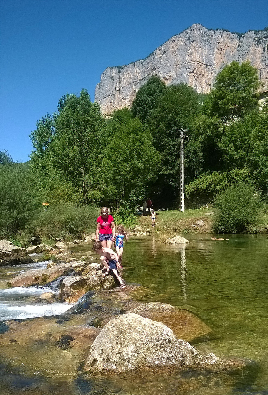 Wild swimming: Paddling in the Alpine river