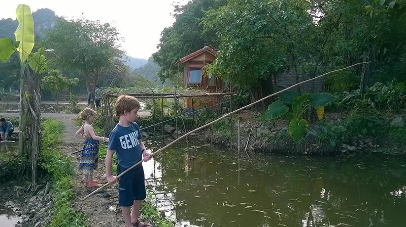 Fishing at Tam Coc