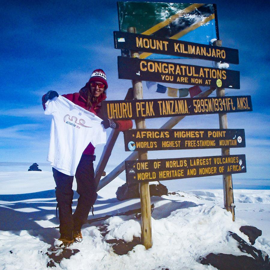 Sal Bolton Climbing Kilimanjaro