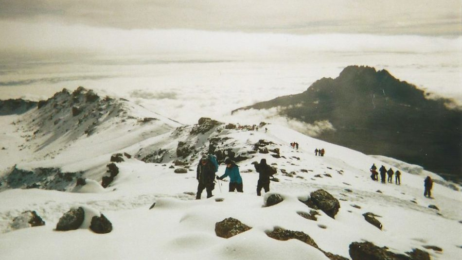 Approaching the summit of Kilimanjaro