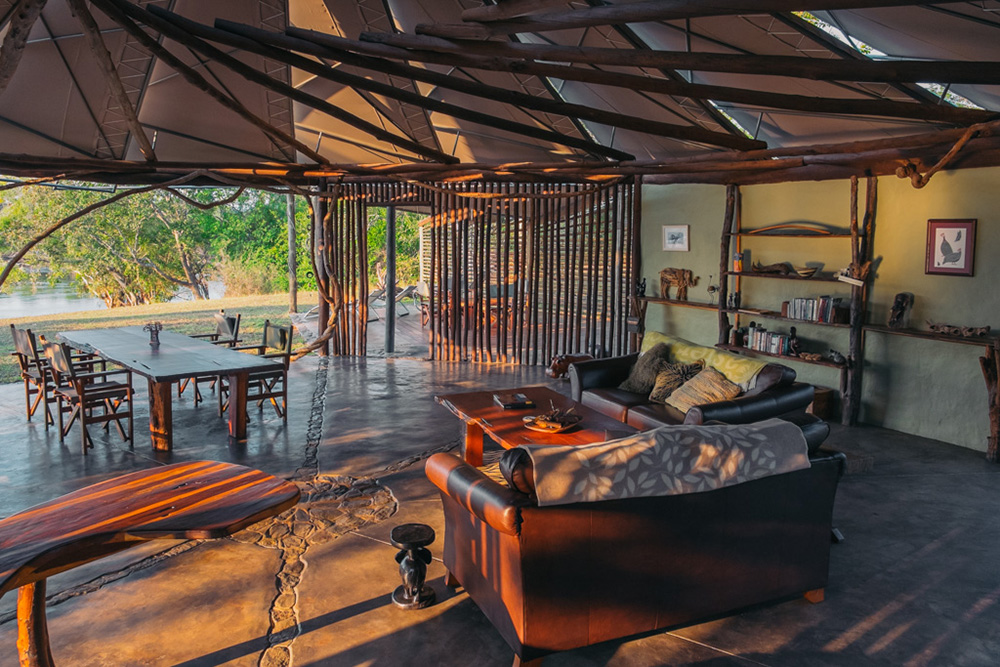 Guest area at Kasabushi Camp