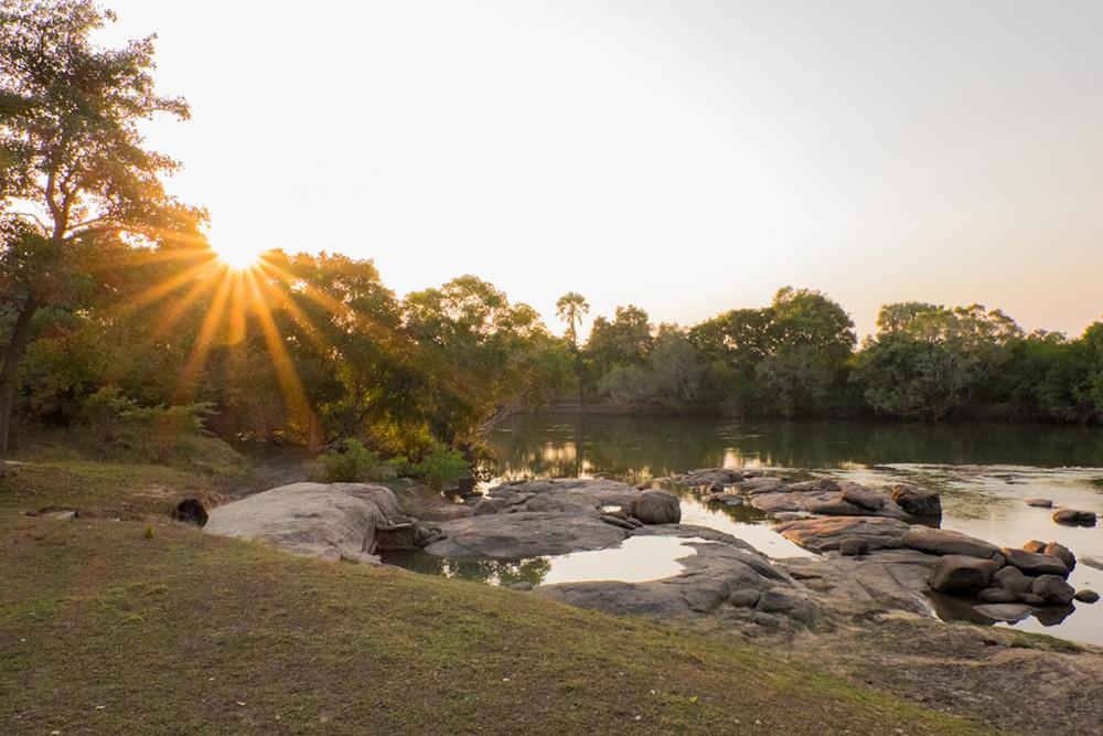 The river at Kasabushi Camp
