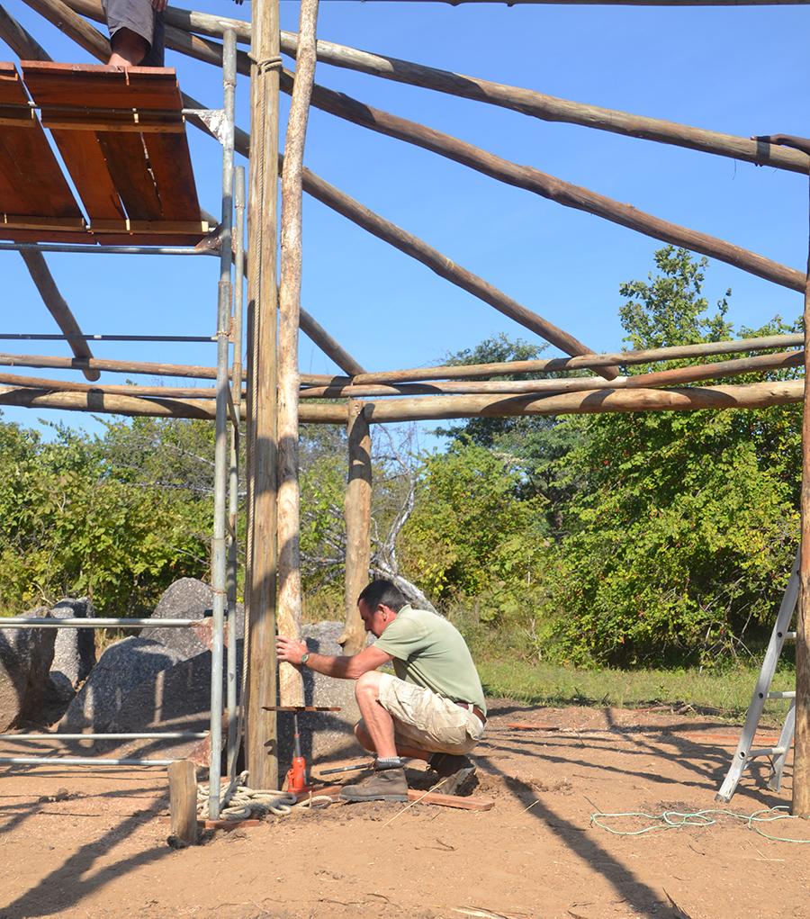 Andy working on the Kasabushi Roundhouse