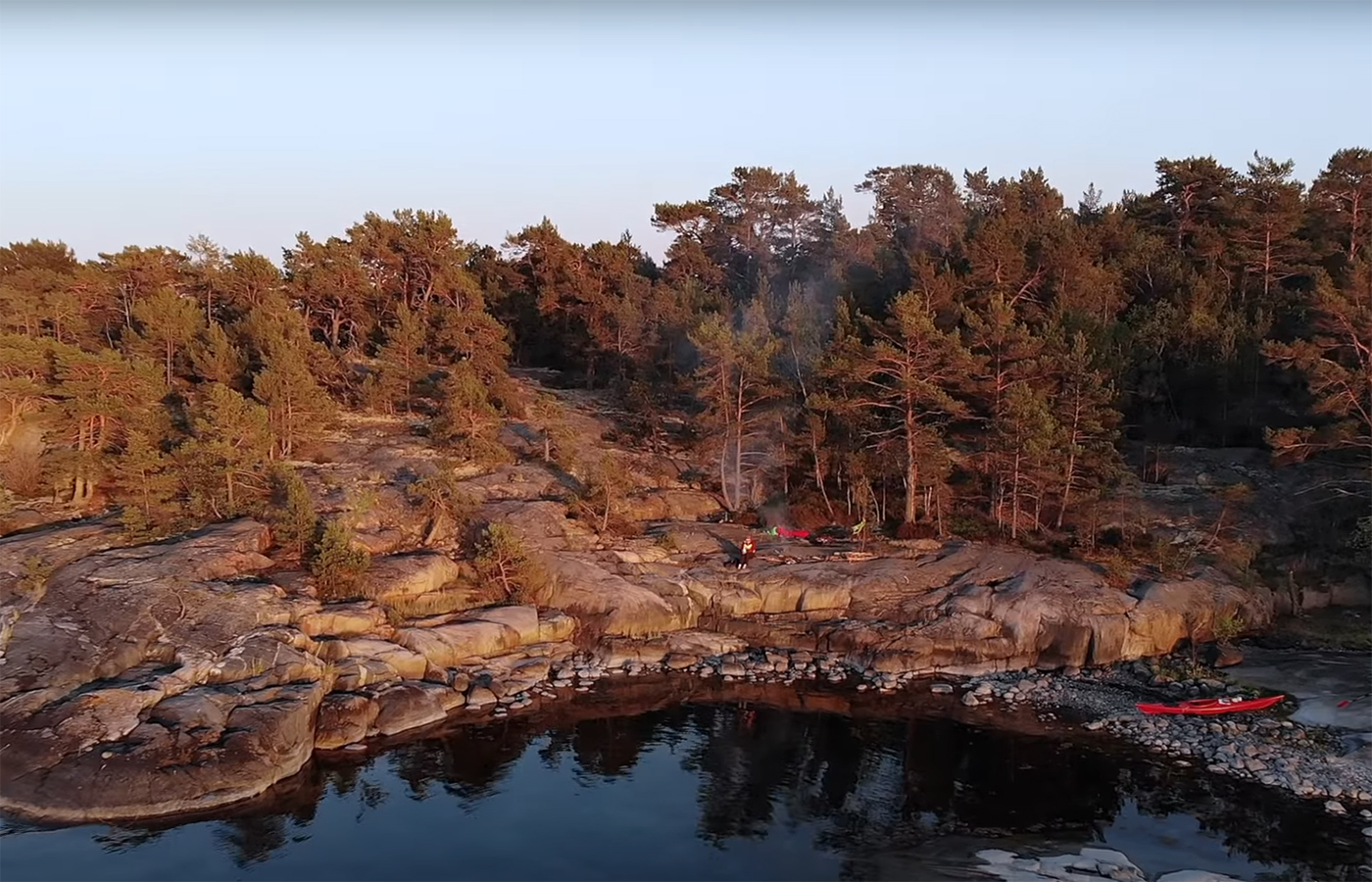 Wild camping by the shore