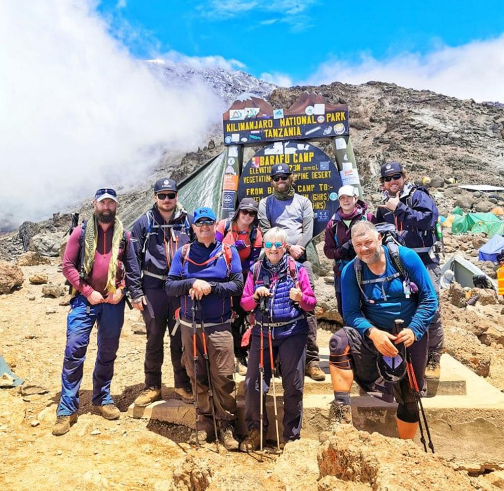 The Evertrek team climb Kilimanjaro