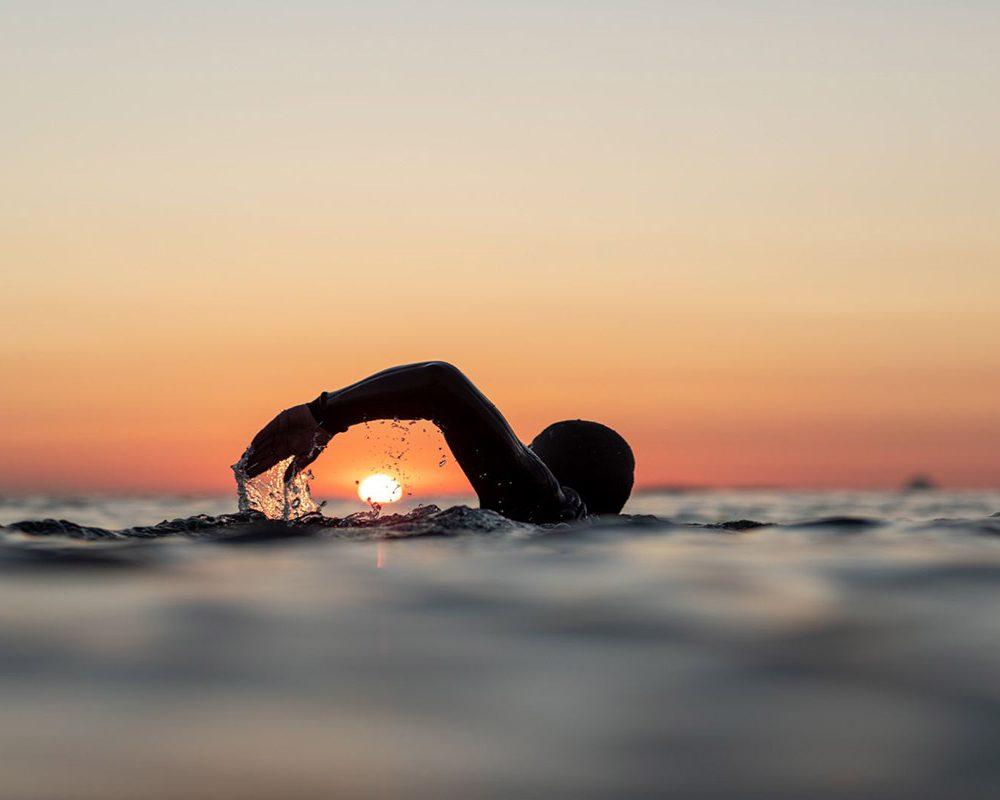 Dawn Days swimming