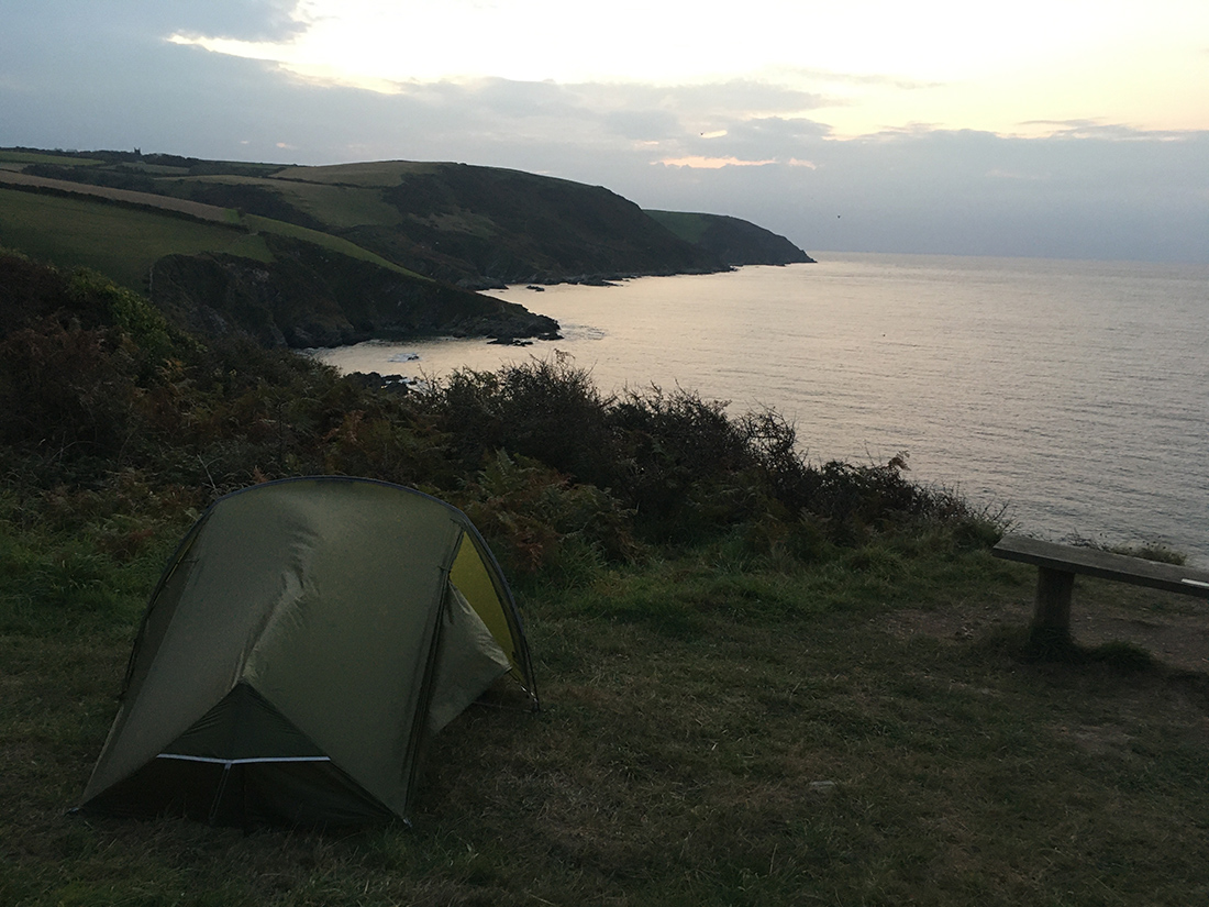 Wild camping on the South West Coast Path