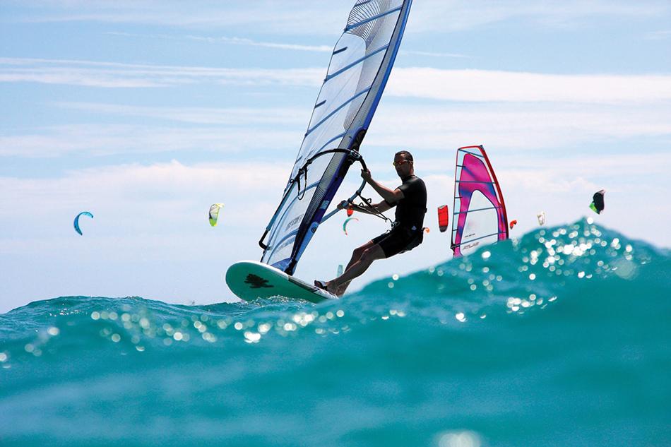 Wind Surfing at Hayling Island